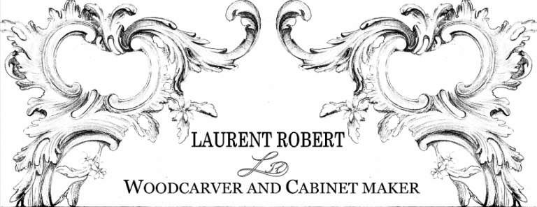 drawing of acanthus leaves, Laurent Robert woodcarving