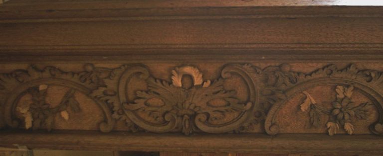 George England organ case restored by Laurent Robert Woodcarver, frieze 4